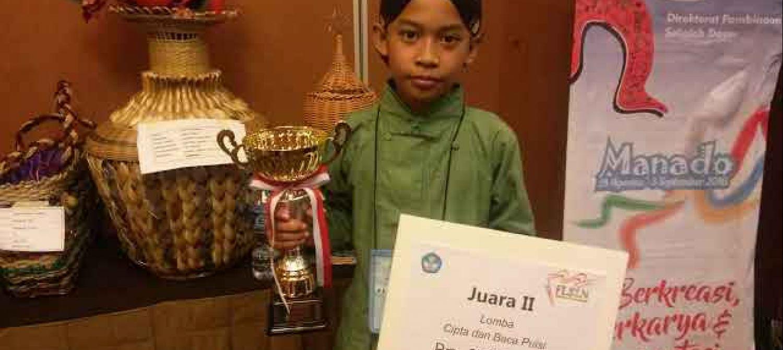 Muhammad Iqbal Raih Runner Up Lomba Cipta Dan Baca Puisi Fls2n Di